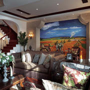 沙发背景墙造型图