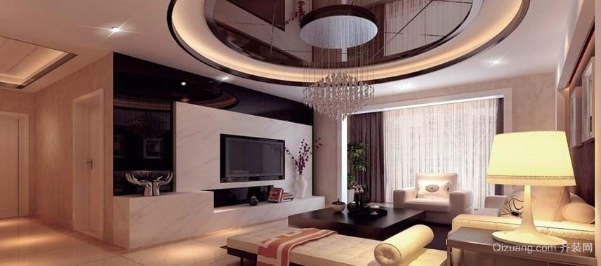 70平米现代简欧风格客厅装修效果图