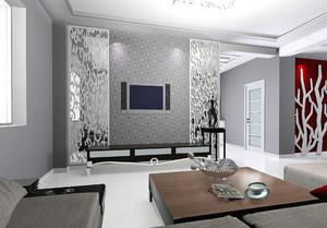 120平大户型客厅组合电视柜装修效果图