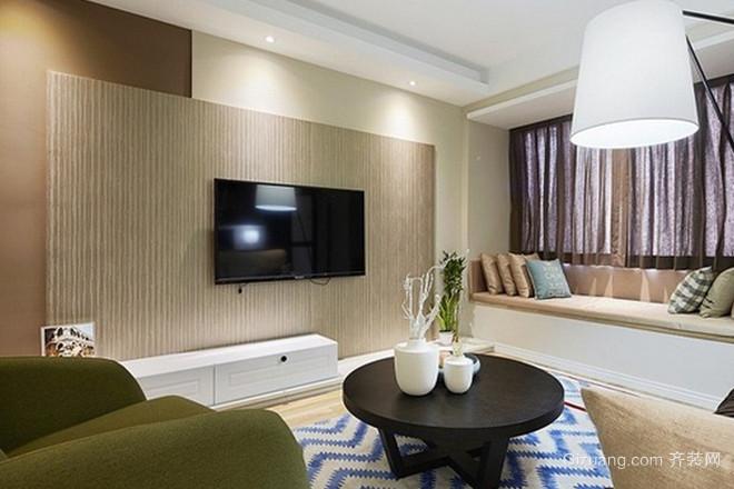 大户型创意性现代客厅硅藻泥电视背景墙装修效果图