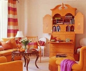 橙色系小型别墅装修效果图