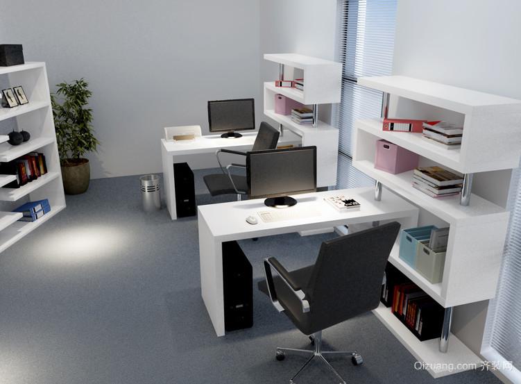 办公室台式电脑桌效果图