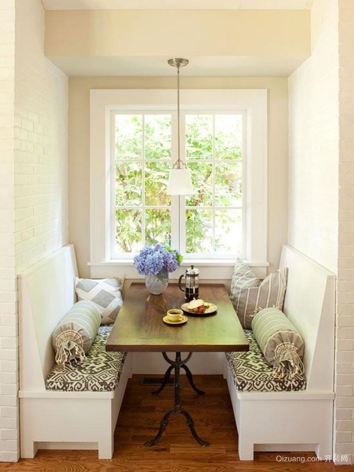 欧式客厅简约实木餐桌图片集锦