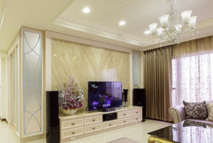 2015欧式客厅微晶石电视背景墙图片展示