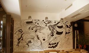 30平社区小餐馆墙绘装修效果图