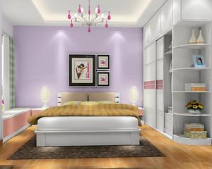单身公寓女士卧室效果图