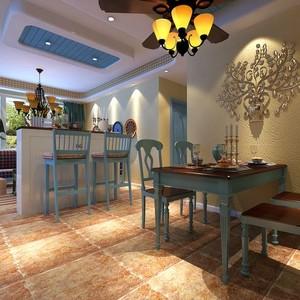 地中海风格清新简约餐厅装修效果图