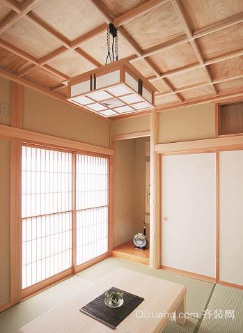日式风格生态木吊顶装修效果图