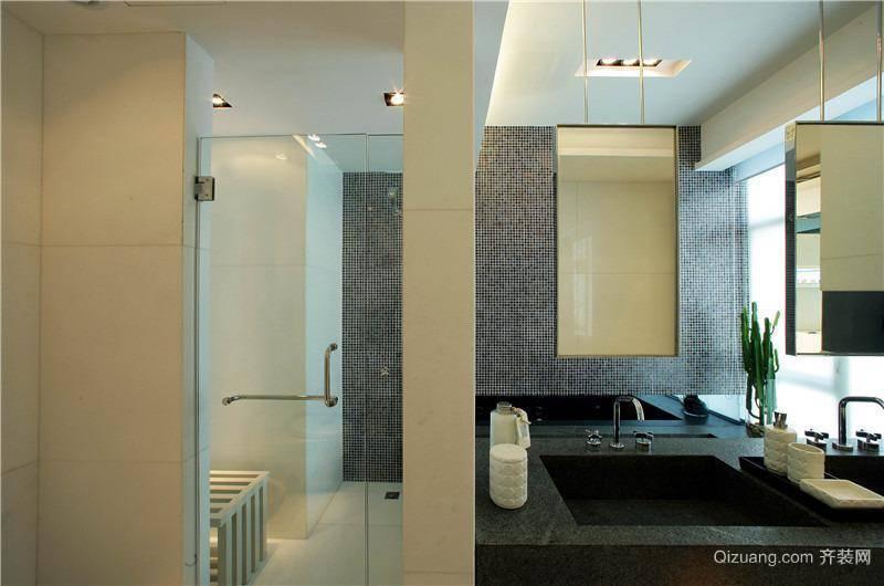 时尚的现代简约卫生间装修效果图