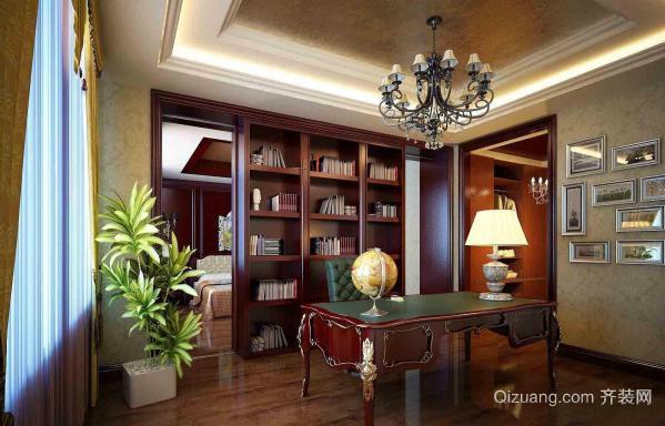 50平米欧式精致古典书房装修效果图