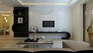 70平米欧式风格客厅硅藻泥电视墙效果图