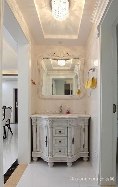 欧式卫生间浴室柜装修效果图