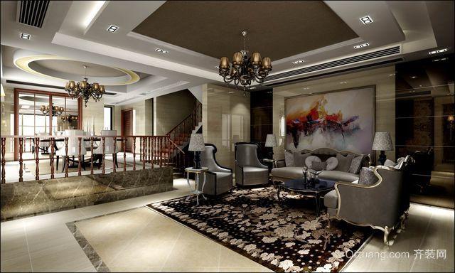 70平米欧式复古客厅装修效果图