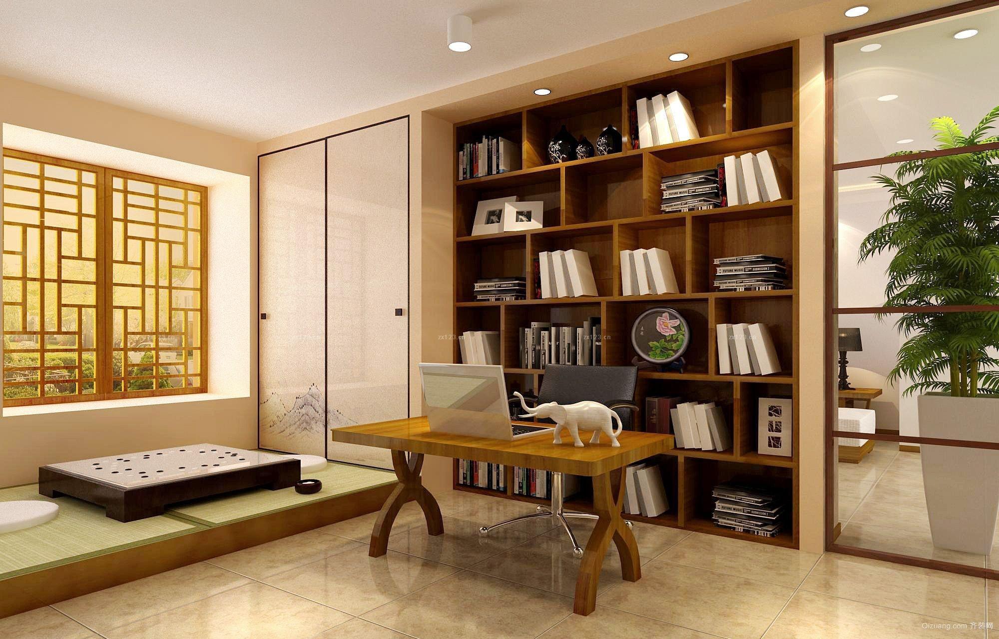 日式书房装修效果图