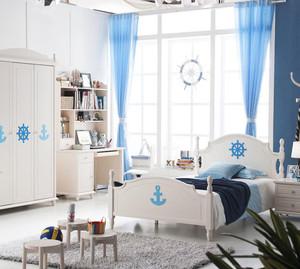 70平米地中海风格梦幻儿童卧室背景墙装修效果图