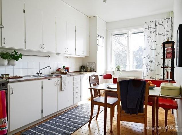 自建别墅豪华型开放式厨房背景墙装修效果图
