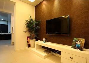 自建别墅欧式客厅电视柜背景墙装修效果图