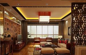 新中式风格飘窗客厅装修效果图