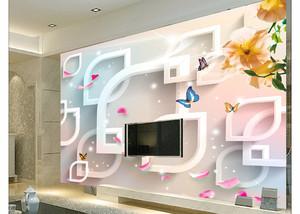 两室一厅现代简约中式电视背景墙3D装修效果图