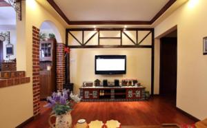 70平米美式田园客厅装修效果图