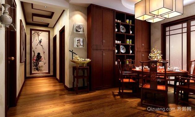 单身公寓中式风格餐厅装修效果图