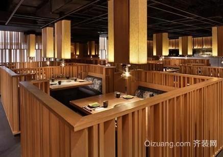 100平米日式餐厅装修效果图