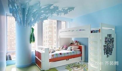 110㎡蓝色海洋系儿童房设计装修效果图