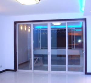 现代简约玻璃推拉门装修效果图