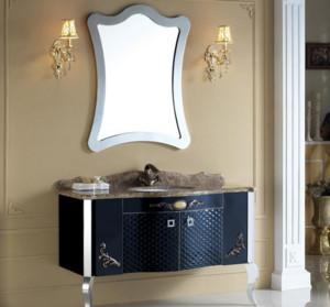 欧式不锈钢浴室柜装修效果图