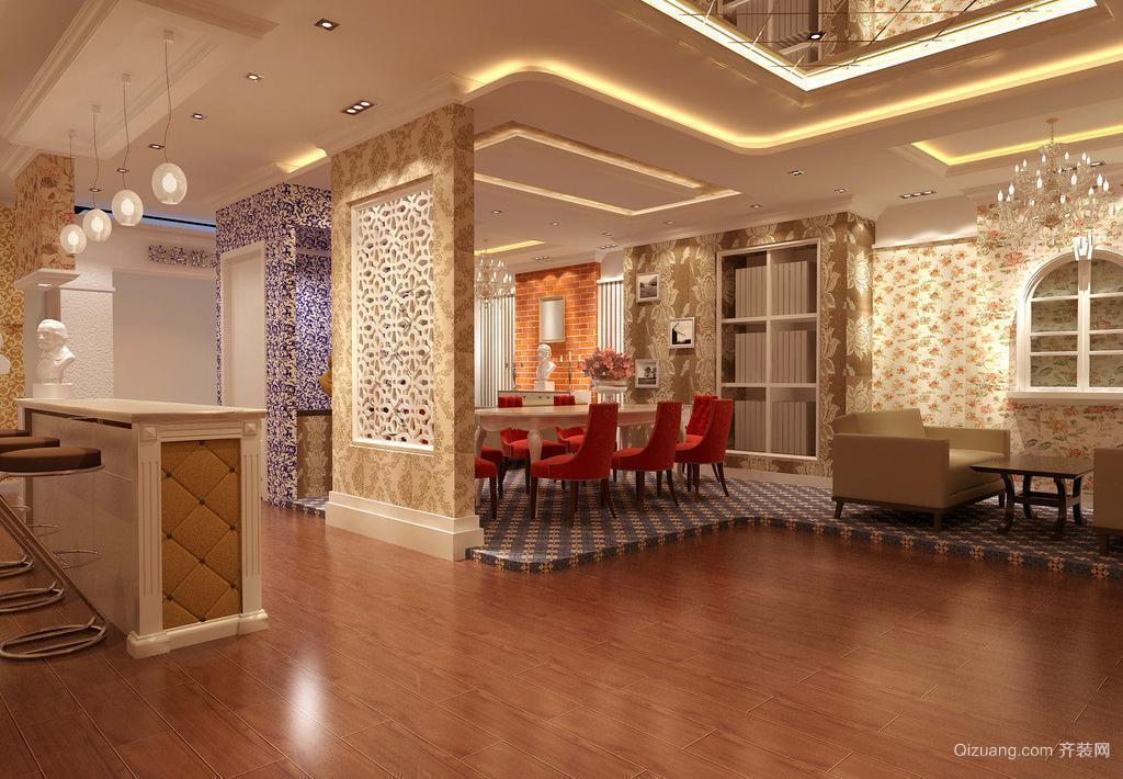 三室二厅欧式客厅室内背景墙装修效果图