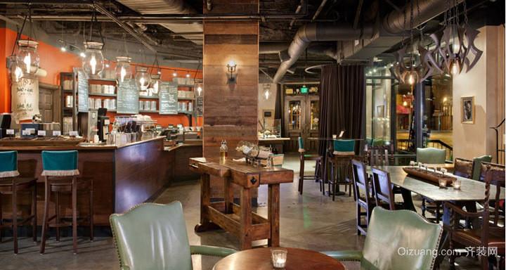 美式风格咖啡店装修效果图