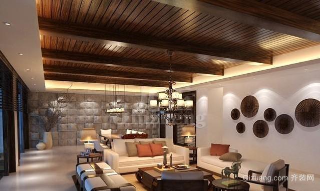 一室一厅东南亚风格客厅装修效果图