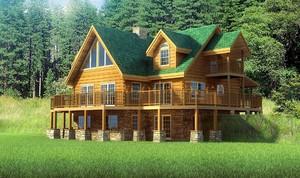 美式风格简约木屋别墅装修效果图