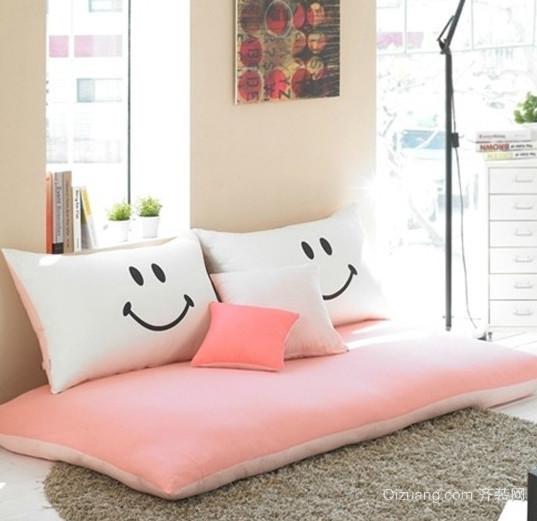 单身公寓客厅懒人沙发装修效果图