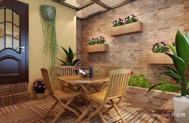 农村房屋田园风格阳台装修设计效果图