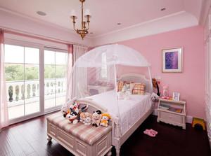 110㎡甜美粉色系儿童房设计装修效果图