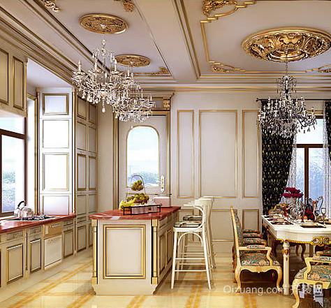 法式风格120平米大户型厨房装修效果图