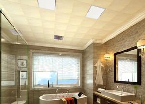 70平米豪华型卫生间吊顶装修效果图