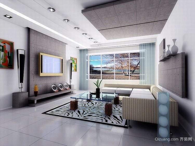 单身公寓欧式客厅装潢设计装修效果图