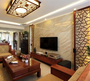 大户型客厅微晶石电视背景墙装修效果图