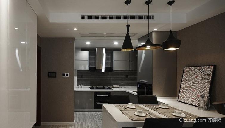 80平米现代简约精致厨房装修效果图