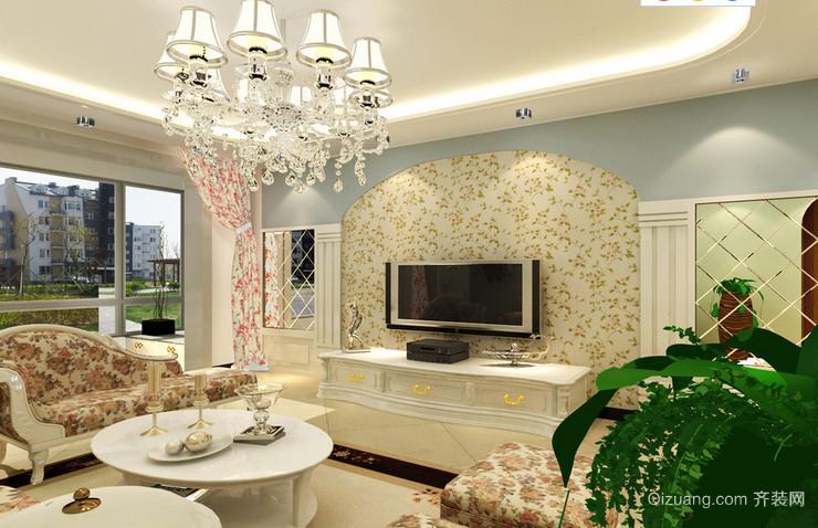 田园风格室内客厅装修设计效果图