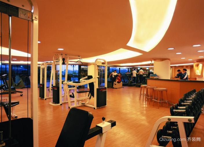 健身房pvc运动地板装修效果图