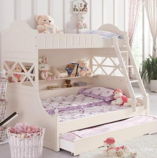儿童卧室上下实木床装修设计效果图