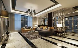 两室一厅后现代风格客厅装修效果图