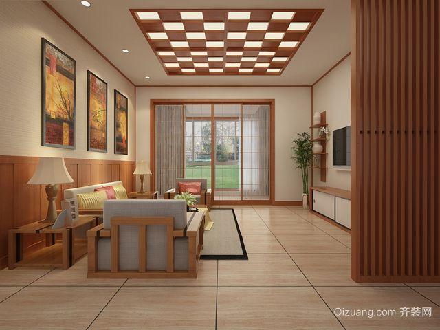 两室一厅日式清新自然隔断玄关装修