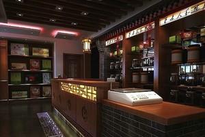 70平米现代简约中式餐厅吧台装修效果图