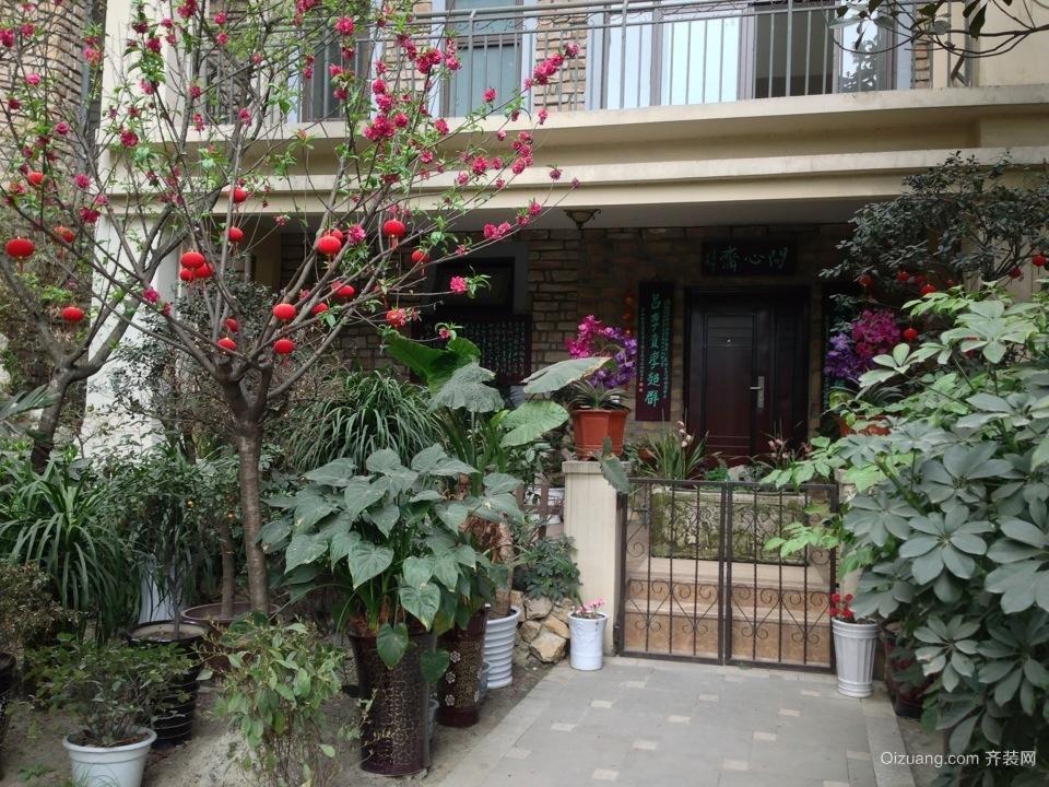 三室二厅欧式阳台入户花园装修效果图