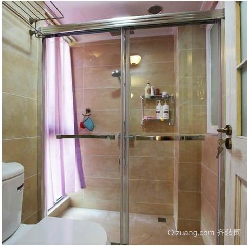 卫生间淋浴玻璃隔断门装修效果图