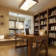 暖色调书房设计图